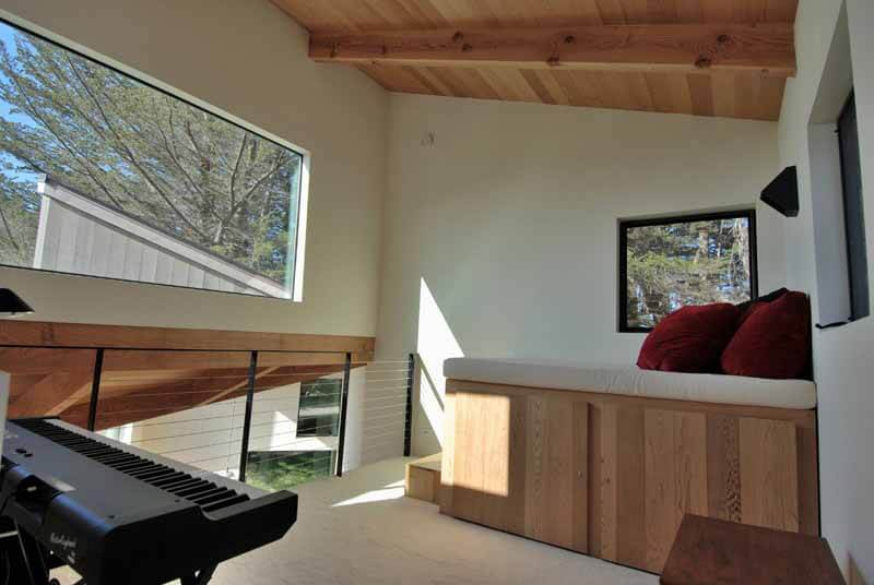 Loft, showing electric piano keyboard.