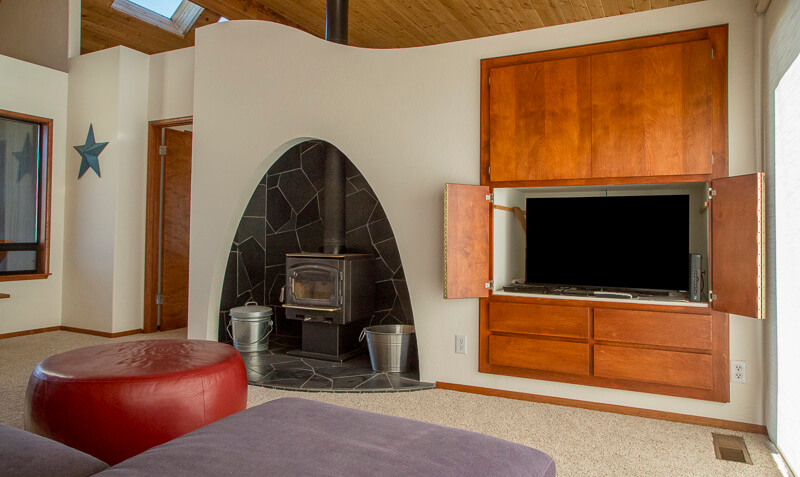 Living Room - Fireplace and television.