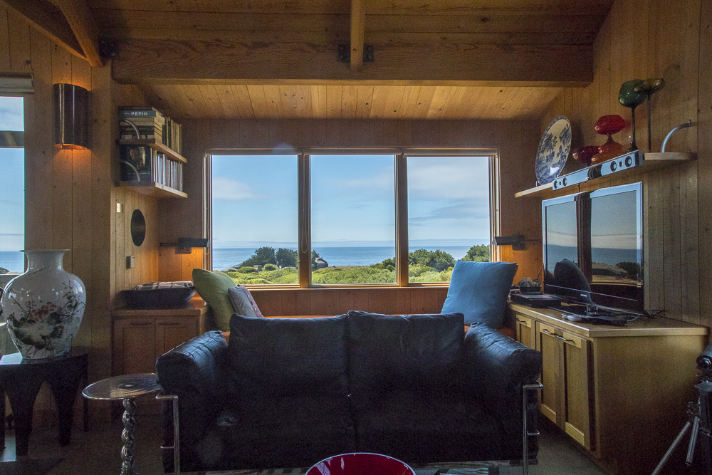 View of ocean from living room.