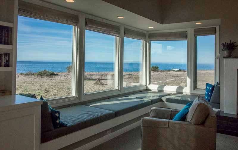 Window seating in living room