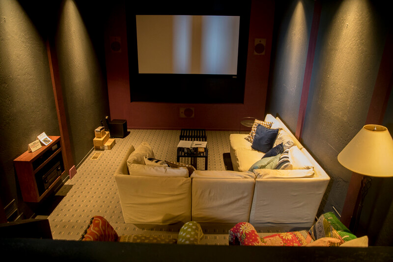 seating in theater with large screen