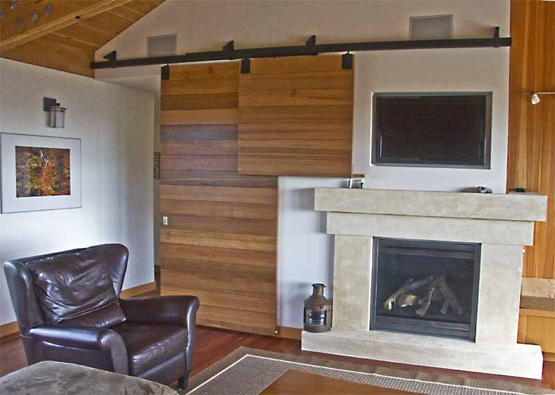 fireplace and television in living room
