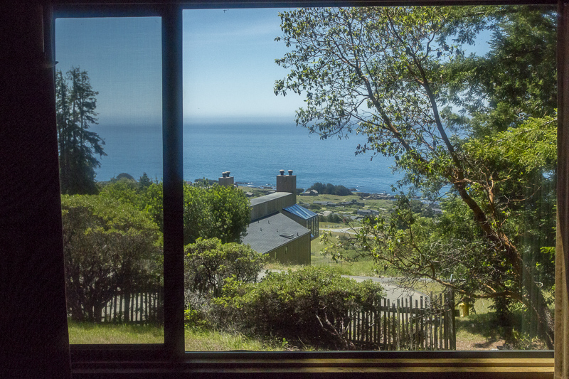 view to the ocean from living room