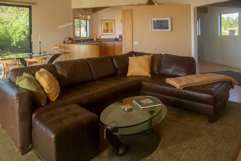 large sofa in living room