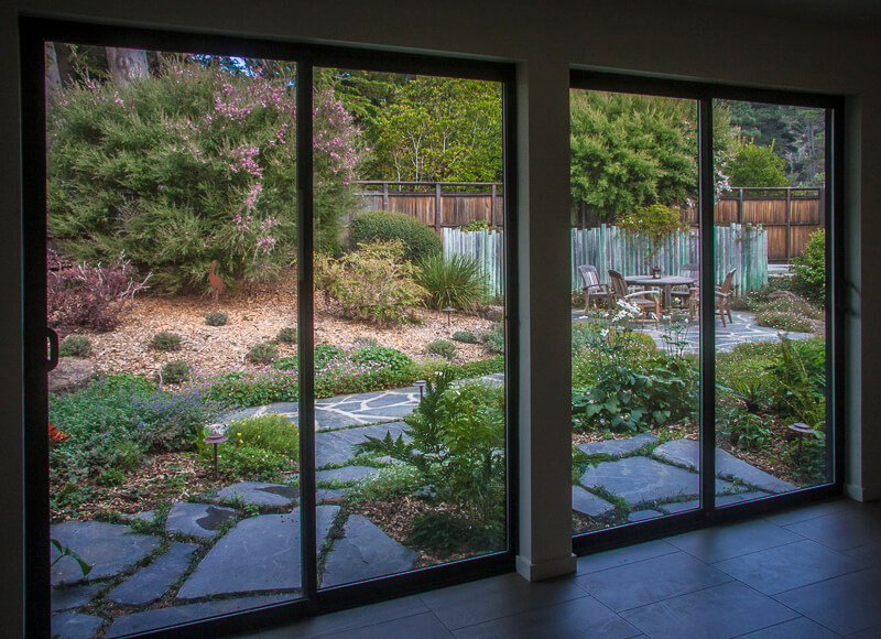 view of garden from inside home