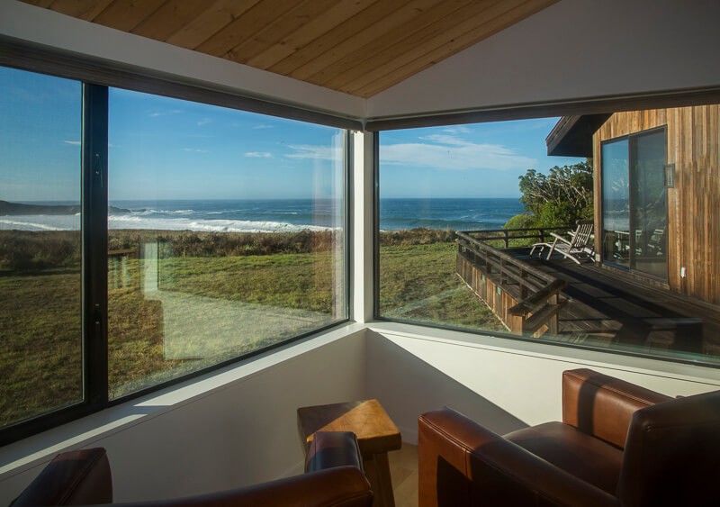 view of ocean from reading room