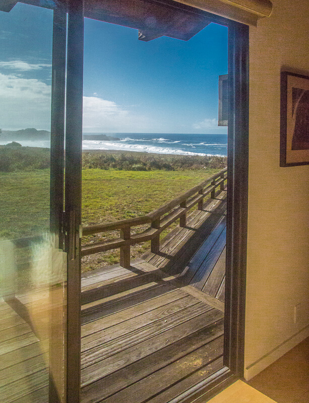 View of ocean from bedroom