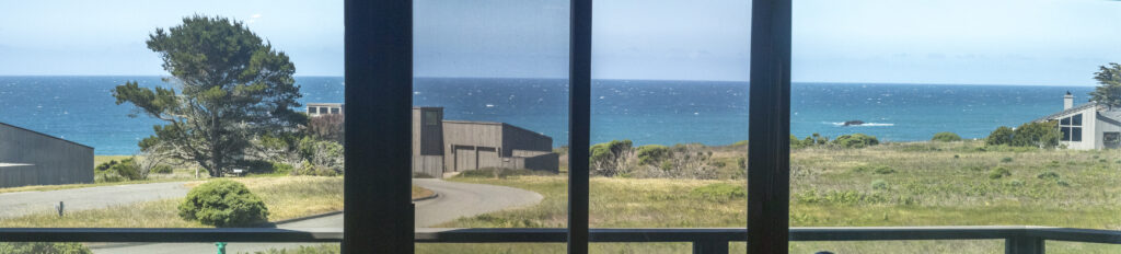 View of the ocean from great room