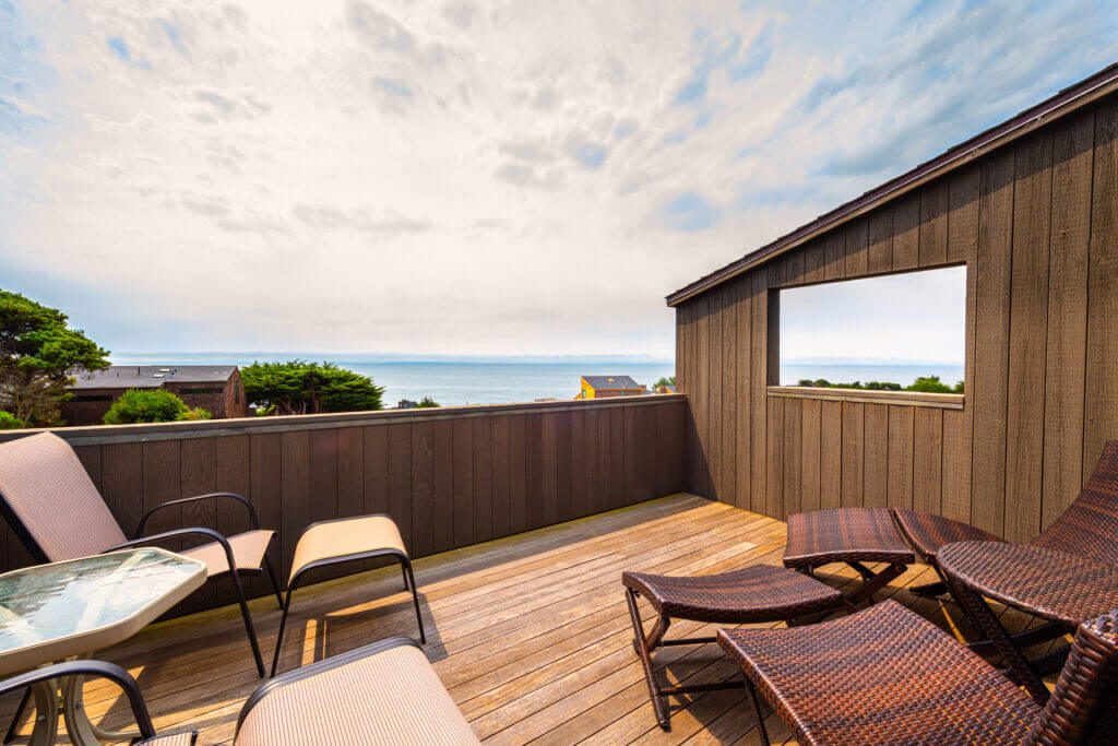 Seaside Serenity deck with view 1